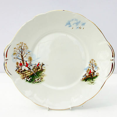 Vintage Duchess Bone China Cake Plate Horses Hounds