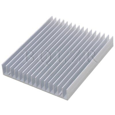 12x10x1.8cm Aluminium Heat Sink Heatsink Radiation Cooling Fin Silver
