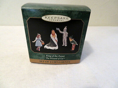 Vintage Hallmark King of the Forest Wizard of Oz Set of 4 Miniature Ornaments