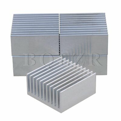 4x4x2cm Aluminium Heat Sink Heatsink Cooling Fin Set of 5 Silver