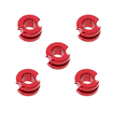 "Red Aluminium Peep Sight 3/16"" Hole for Compound Bow Hunting Shooting, 5Pcs"