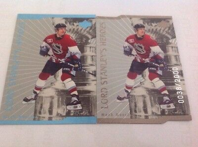 NHL- Mark Messier- Lord Stanley's Heroes- Upper Deck 2 Variant Cards. 0038/2000