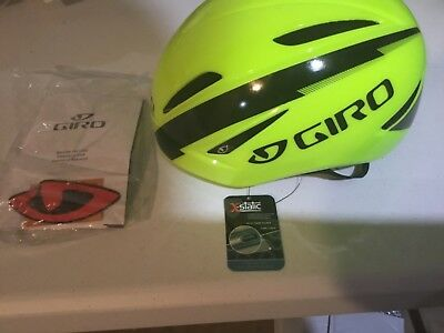New Giro Air Attack Cycling Helmet Yellow/Black Size Small FREE N FAST SHIPPING