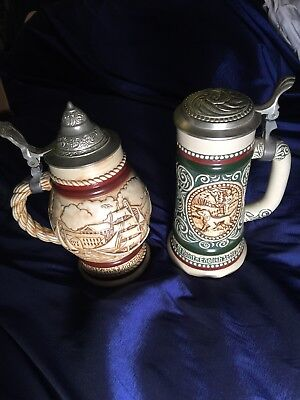 Avon Beet Stein Set Of Two Handcrafted In Brazil