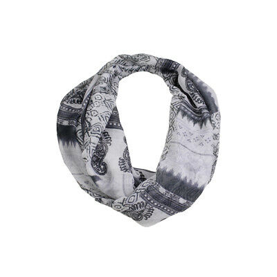 Jendi Soft Charcoal Grey White Ladies Fashion Snood Infinity Scarf 4 Spring NEW