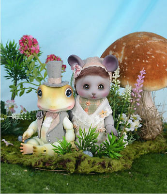 BJD 1/8 DOll Toad Doll with Free eyes + Face make up + Body blushing Resin Toys