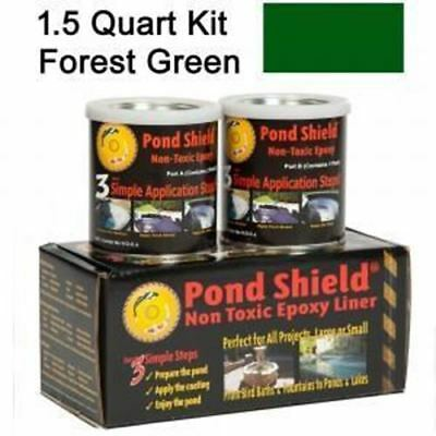 Fountain & Water Feature Pond Armor Pond Shield Epoxy Paint, 1.5-Quart, Forest G
