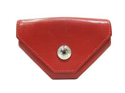 HERMES Coin purse Levan Cattle Rouge H(Red) Leather (calf)