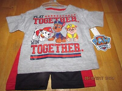 Brand new Paw Patrol Outfit, Shorts & Shirt, baby Boys. Free shipping