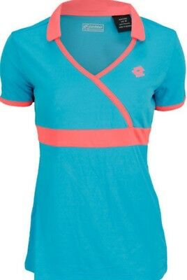 LOTTO Womens Noa java/fluro pInk tennis top size medium brand new with tags