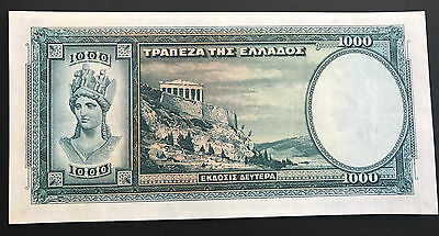 1939-1000-Greek-Drachmai-Banknote-Serial:-547015