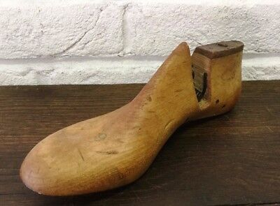 Naturally Aged Vintage Wooden Foot/Cobblers/Boot Makers Shoe Last - Prop
