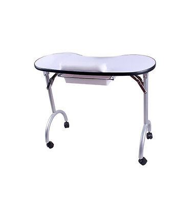 BN Portable Foldable Nail Artist Manicure Table With Pull Out Drawer