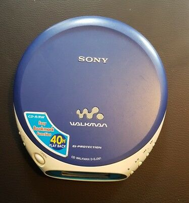Sony Discman Walkman  Cd D-Ej361   Vgc Working