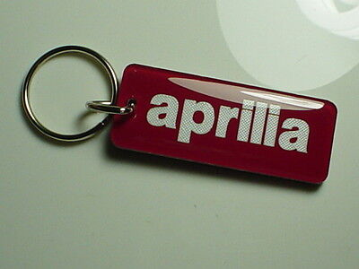 aprilia Motorcycle Key Chain Red / White