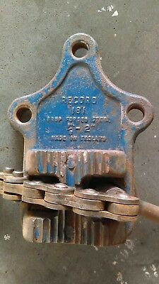 Vintage Record No 181 Pipe Vice 1/2 - 2 Inch Drop Forged Steel Made In England