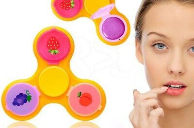AQ Colourful Finger Fidget Spinner with 3 Fruit Flavoured Lip Balms