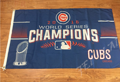 New Chicago Cubs Flag 2016 World Series Champions Flag 3 x 5ft Polyester Banner