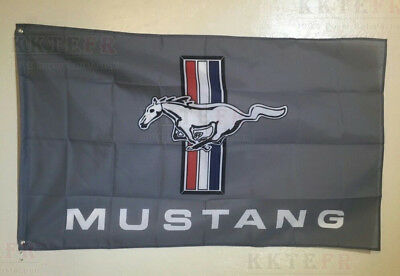 Ford Mustang GT FLAG BANNER BLACK freestar explorer 5x3FT 150x90CM
