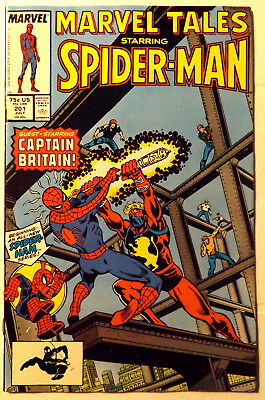 Marvel Tales #201 Spider-Man Captain Britain 1987 9.0~Reprint Of 1St Appearance~