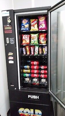 Vending Machine - Used Combo Snack & Drink with Change giving Coin Mech