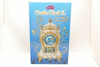 Disney Princess Cinderella Castle Clock L Brand New!! F/S w/Tracking from Japan