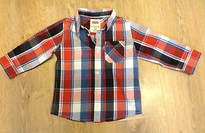 Levi Check Baby Shirt Fit 12/months 1Year V G C