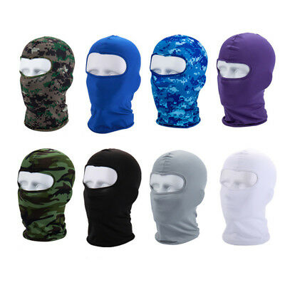 Cycling Lycra Balaclava Full Face Mask Outdoor Ski Ultra-thin Neck Protecting FJ