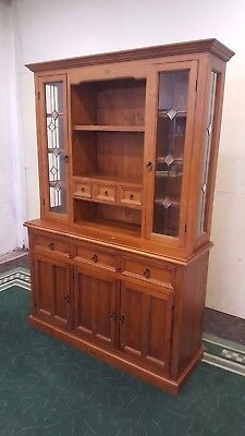 Two Piece Kitchen Cabinet Solid Timber Hutch Leadlite Home Storage Cabinet