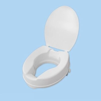 Raised Toilet Seat with Lid Elderly Patients Disability People