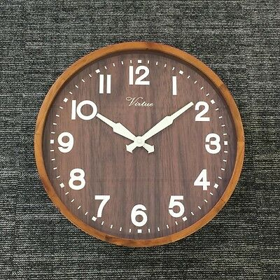 Industrial Style Wood And Glass Wall Clock