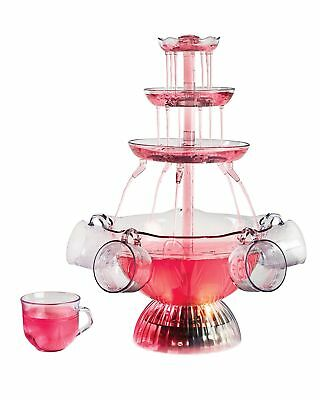 Party Punch Fountain Chambagne Beverage Lighted Set Friends Gift Glasses Drink