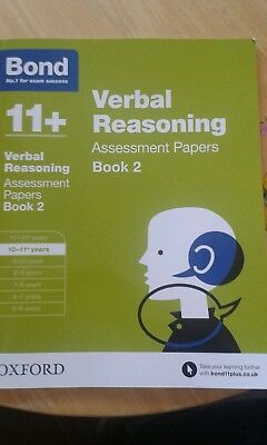 11+ Bond verbal reasoning assessment papers book 2 - brand new