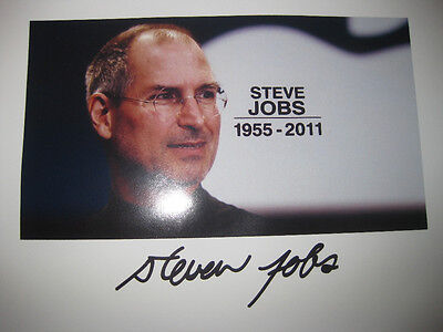 Steve Jobs Signed Photo Steven 8x10 Apple Founder Rare Autograph reprint Picture