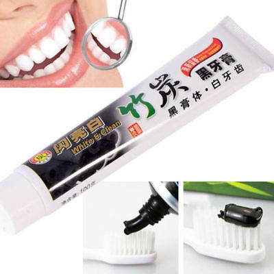 100g Bamboo Charcoal All-Purpose Teeth Whitening Clean Black Toothpaste 2017 New