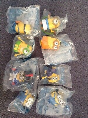 McDonalds Happy Meal Toys  Minions 2015 x 8 New