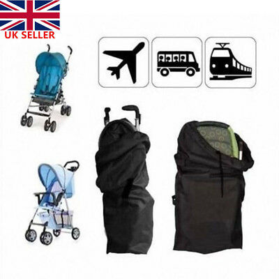 Pram Gate Check Travel Bag Umbrella Stroller Pushchair Buggy Cover Waterproof UK