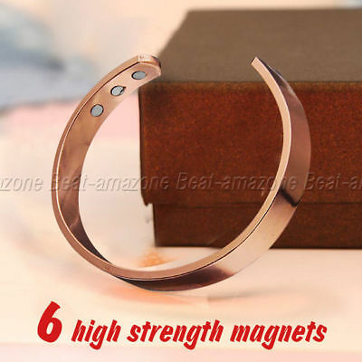 New Copper Bracelet Arthritis Bio Pain Relief Pattern Magnetic Bangle Unisex