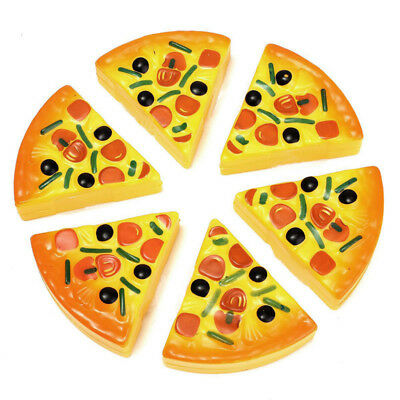 Child Kitchen Pizza Party Fast Food Slices Cutting Pretend Play Food Toy