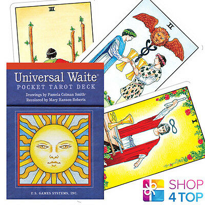 Pocket Universal Waite Tarot Deck Cards Esoteric Telling Small Compact New