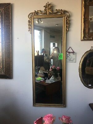 Large Ornate Gold Hall Mirror Vintage Antique Style