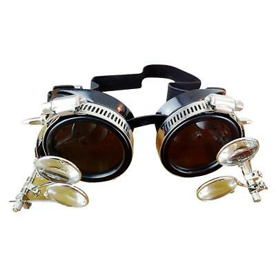 Victorian Steampunk Goggles Punk Antique Metal Cosplay Glasses Adjustable