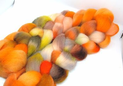 Hand Dyed Roving Combed Wool Top Whitefaced Woodland 100g WW40 Felting Spinning
