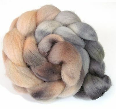Hand Dyed Roving Combed Wool Top Whitefaced Woodland 100g WW35 Felting Spinning