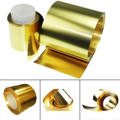 2PC Brass Metal Thin Sheet Foil Plate Roll 0.02 x 100 x 1000mm Metalworking US