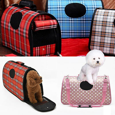 Pet Dog Cat Puppy Portable Travel Carry Carrier Cage Crates Kennel Multicolor