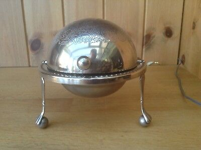 Vintage Silver Plated Roll Top Butter/Caviar Dish