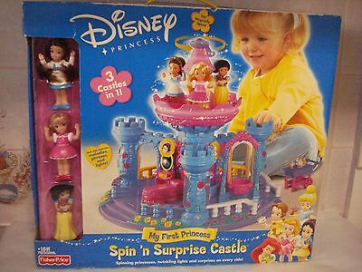 Vintage Fisher Price  Disney  My First Princess Spin 'n Surprise Castle