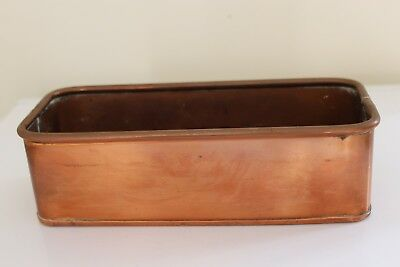 Vintage Copper Trough Tub Planter Plant Pot Antique  Old
