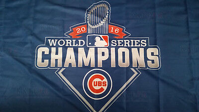 New Chicago Cubs 2017 World Series Championship 3x5 ft Flag Blue Banner
